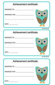 Kids Achievement Certificate