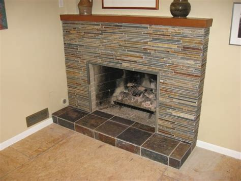 covering marble fireplace with slate tile search