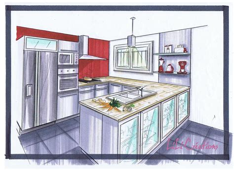 dessiner une cuisine le de elise fossoux décoration architecture d