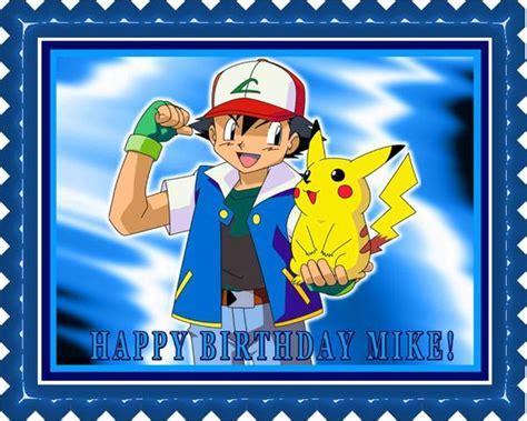 pokemon pikachu edible birthday cake  cupcake topper