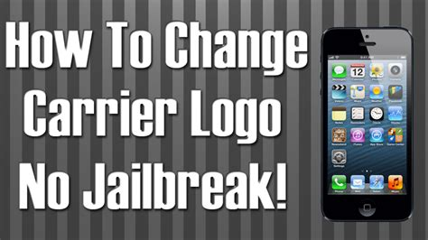 how to edit a on iphone how to change carrier logo on iphone without