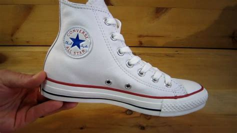 Converse All Stars Chuck Taylor High Leather White YouTube