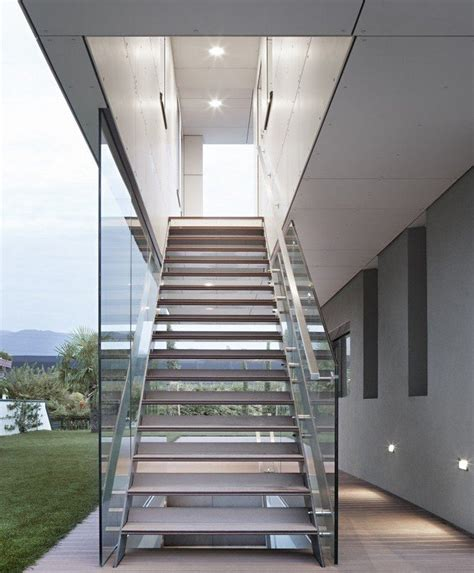 metal staircase home decoration insight building wood