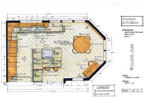 Foster Kitchen Designfloor Plan  Intr 224 Residential
