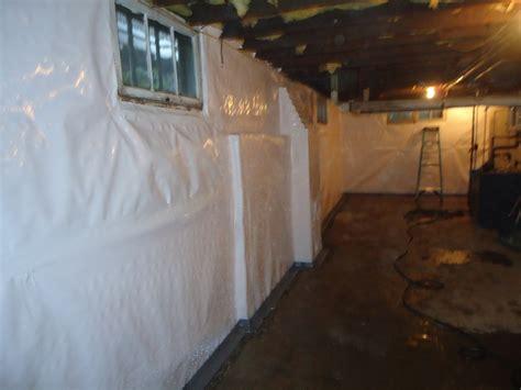 basement vapor barrier smalltowndjs cleanspace wall vapor barrier and waterguard perimeter drainage system basement waterproofing