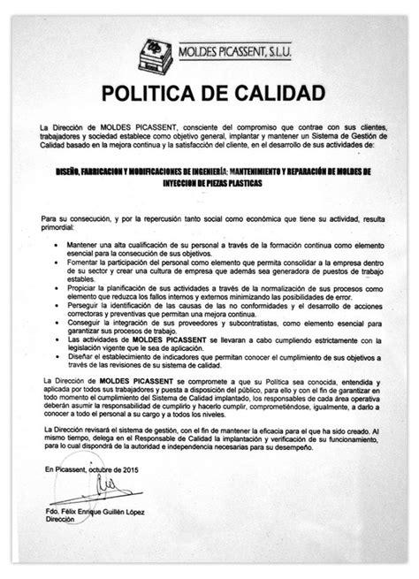 Bureau Technique Moldes Picassent Politique De Qualité Moldes Picassent