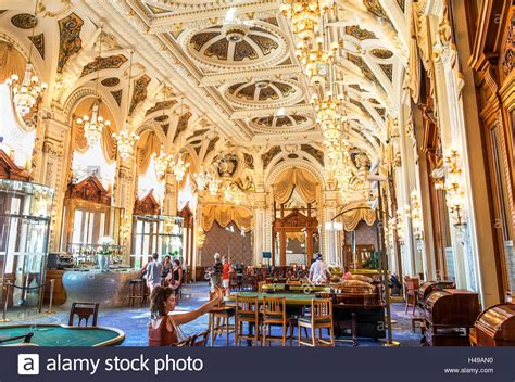 The Opulent Decor Inside Monte Carlo Casino, Monaco Stock