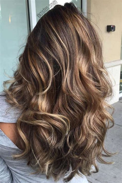 Espresso Hair Color With Caramel Highlights by Espresso Balayage With Caramel Tones In 2019