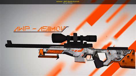 asiimov awp battle scarred counter strike  skin mods