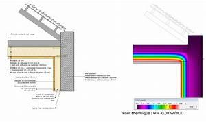 la maison passive details raccords mur toiture With delightful maison en beton banche 4 maison passive isolation thermique en beton banche