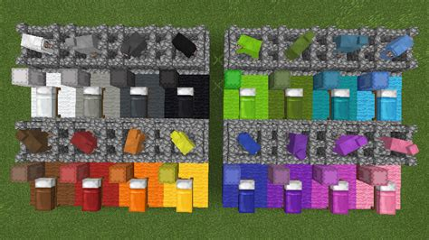 minecraft dye colors mcpe 21494 minecraft pe sheep colors shulker box