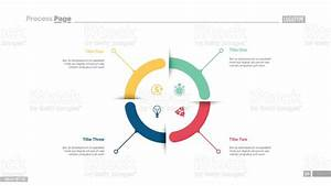 Four Aspects Circle Diagram Slide Template Stock