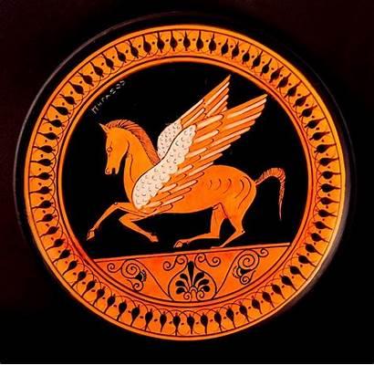 Greek Pottery Ancient Pegasus Arte Ceramic Replicas