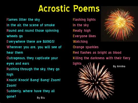 year  firework poems