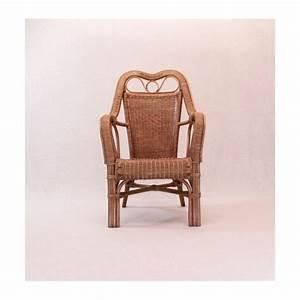 Fauteuil Haut Dossier : fauteuil en rotin naturel ~ Teatrodelosmanantiales.com Idées de Décoration