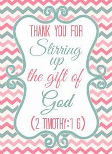 Stir Up Gift of God Thank You Printable