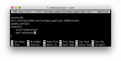 Wifi Raspberry Pi Config Netwerk Wachtwoord Aanmelden