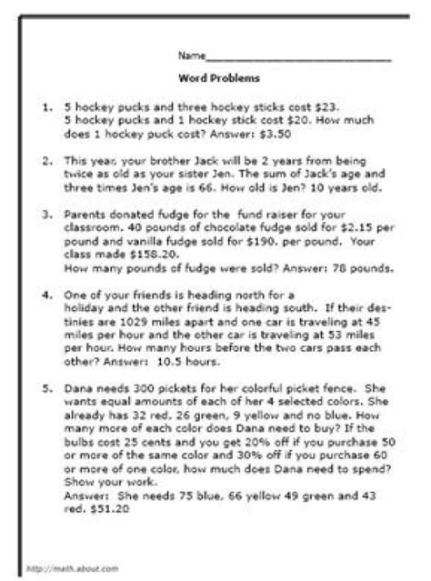 ideas about math word problems on word