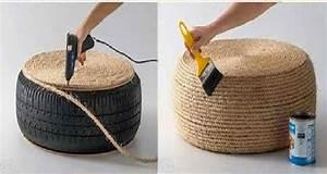 Meuble A Faire Soi Meme Recup : d co r cup fabriquer un coussin de sol avec un pneu ~ Zukunftsfamilie.com Idées de Décoration
