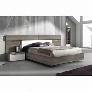 lit design led mistral avec ses 2 chevets With tapis exterieur avec canapé lit livraison gratuite
