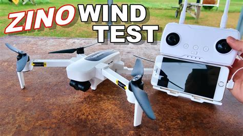 hubsan zino wind test flight time awesome   axis gps drone thercsaylors youtube