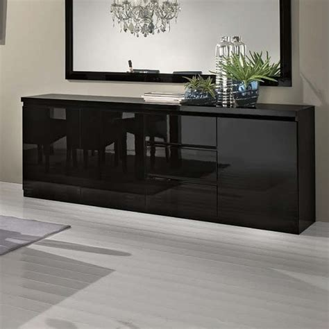 Cheap Black Sideboard by Regal Sideboard In Black With High Gloss Lacquer And 3