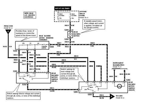 Mercury Ac Wiring Diagram by 1998 Mercury Villager Rear Ac Problem Fuses Ok Fan Motor