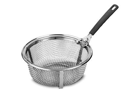 le creuset stainless steel fry basket   quart  dutch oven  quart cutlery