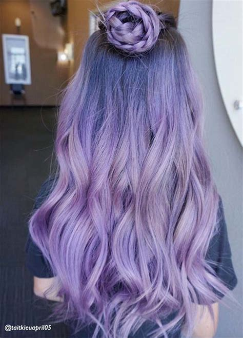 50 Lovely Purple And Lavender Hair Colors Purple Hair