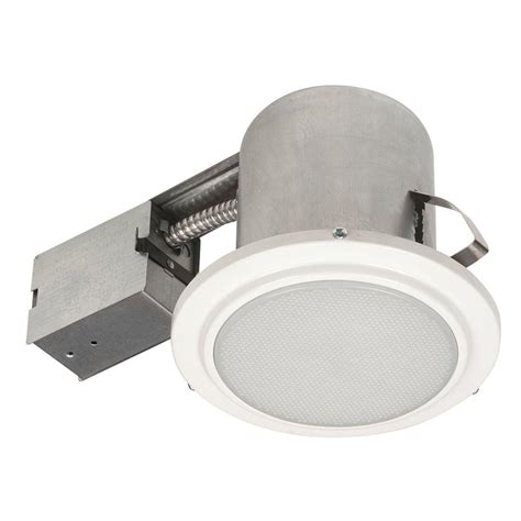globe electric 5 in white recessed shower light fixture