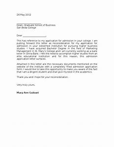 Sample Reconsideration Letter