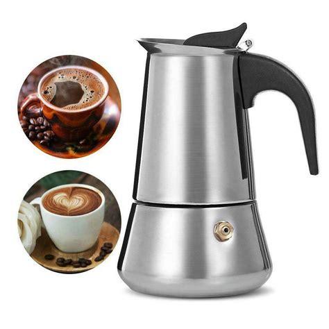 Bialetti 06813 kitty espresso coffee maker 4. Stainless Steel Stovetop Moka Espresso Coffee Maker Perculator
