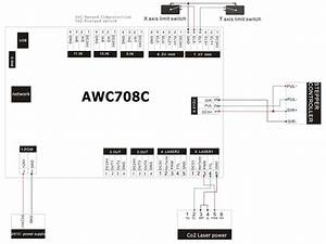 Anywells Awc708c Lite Laser Controller System For Co2 Cnc