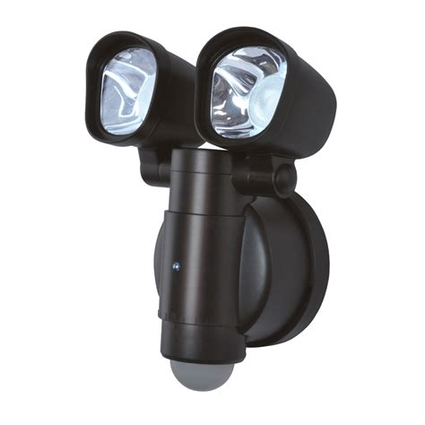 2 head led motion activated flood light shop utilitech 110 degree 2 head bronze integrated led