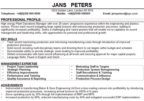 operations manager cv sle
