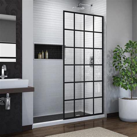 dreamline shower door shop dreamline linea 34 in to 34 in w frameless