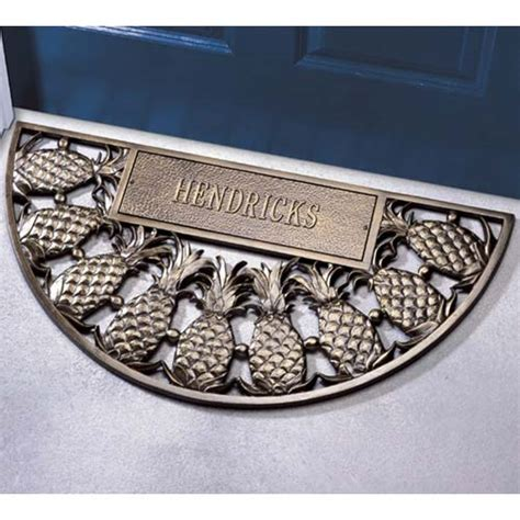 pineapple door mat aluminum pineapple arch personalized doormat in doormats