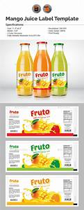 juice label template by aam360 graphicriver With juice bottle label template