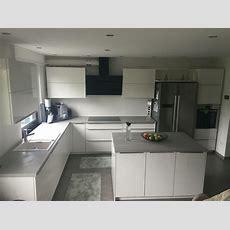 Küche Beton Optik Weiß Hochglanz  Wohnen Grau Kupfer Rosa