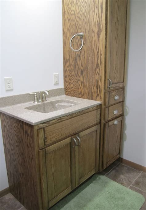 birch kitchen cabinets custom designed cabinet and countertop for the bathroom 4548