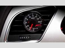 Review AWE Vent Mount Boost Gauge Audi A4 B8 YouTube