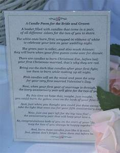 bridal candle basket with candle poem for bridal shower or With wedding shower poems