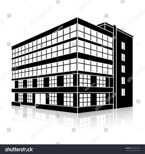 principal039s office clipart black and white silhouette office building entrance reflection on stock