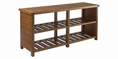 Shoe Rack Tier Storage Wood Brown Shelves