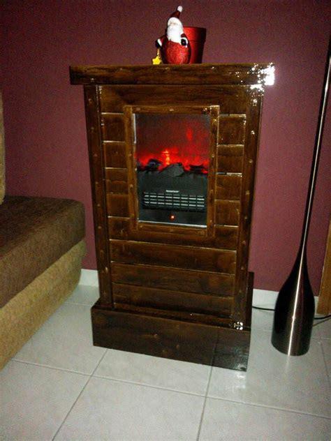 pallet cabinet  electric fireplace device  pallets