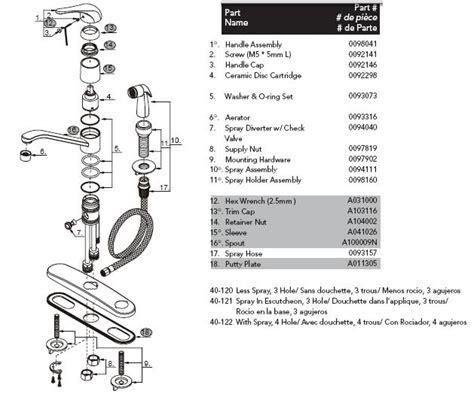 glacier bay kitchen faucet diagram alluring gerber 40 122 kitchen faucet parts at glacier bay