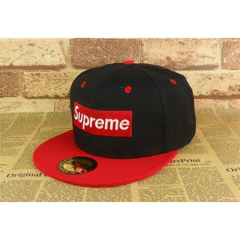 supreme cap supreme 5 panel classical logo black snapback baseball