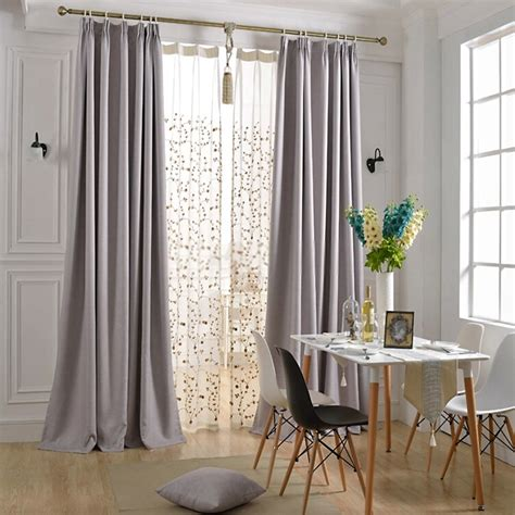 Simple But Graceful Modern Light Grey Curtains