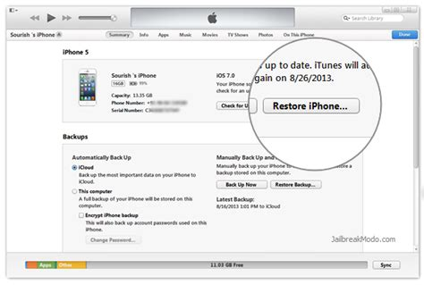 to restore my iphone how to restore jailbroken iphone or ipod touch to