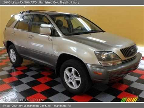gold lexus rx burnished gold metallic 2000 lexus rx 300 awd ivory